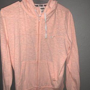 PINK orange/Coral/Peachy zip up hoodie
